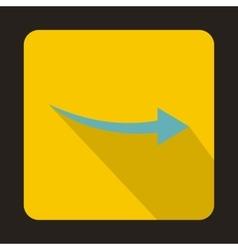 Thin blue arrow icon flat style vector