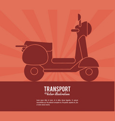 Transport scooter vehicle design vector