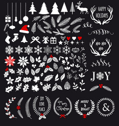 White christmas design elements vector