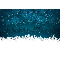 Winter background with many snowflakes eps 8 vector