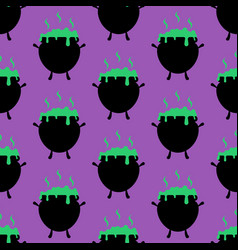 Witch cauldron pattern vector