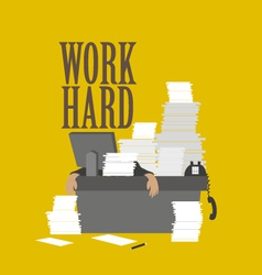 Work hard and businessman vector