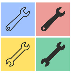 Wrench icon set vector
