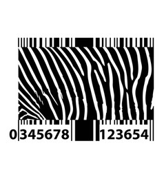 Zebra bar code vector