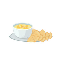 hummus jewish food appetizer mashed chickpeas with vector image