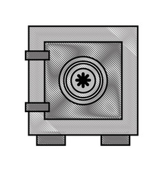 Safe box isolated icon vector
