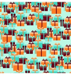 Seamless pattern with gift boxes in retro style vector image
