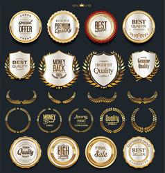 Luxury golden design elements collection 1 vector
