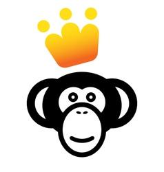 Vip monkey icon vector