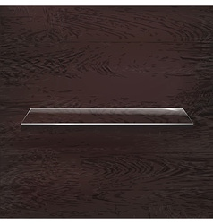 Glass Shelves On Wood Background vector image