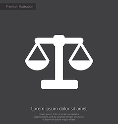 Scales premium icon white on dark background vector