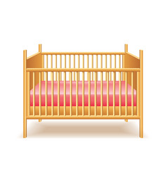 Baby bed isolated vector
