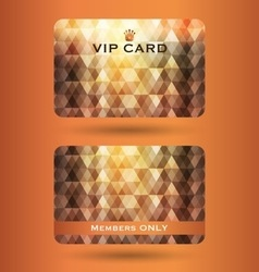 Vip cards with the abstract background vector