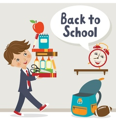 It is time to go to school vector