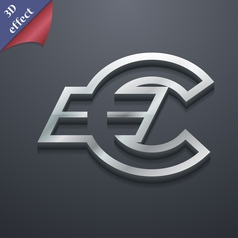 Euro eur icon symbol 3d style trendy modern design vector