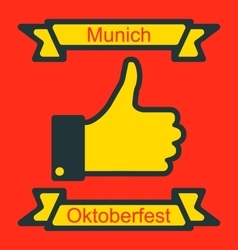 Icon of thumb up for oktoberfest party vector