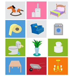 Households icons vector