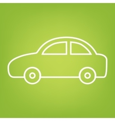 Car line icon vector