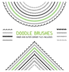 Doodle brushes set vector