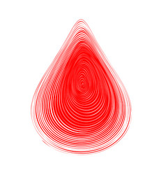 abstract red blood drop vector image