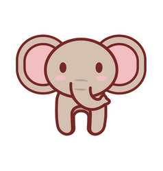 Cartoon elephant animal image vector