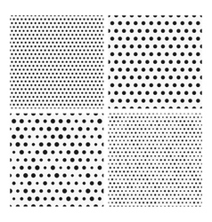 Collection of seamless repeating black dots vector