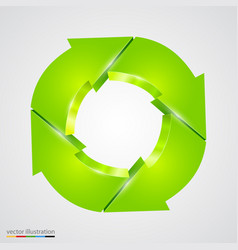 Creative arrows circle recycle sign vector