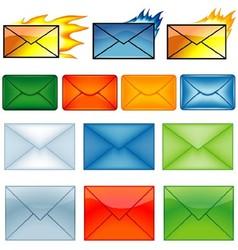 Envelope Symbols vector image vector image