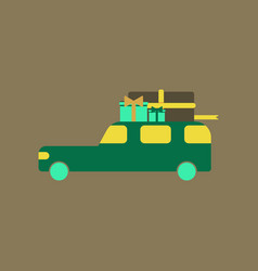 Flat icon of car gifts vector