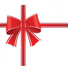 gift wrap bow vector image vector image