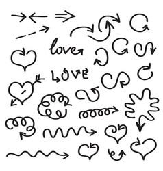 hand written arrows vector image vector image