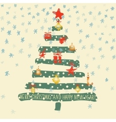 Holiday hand drawn sketch christmas and new year vector