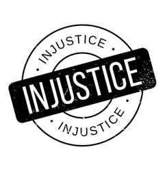 Injustice rubber stamp vector
