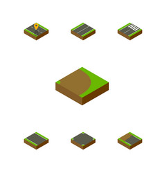 Isometric road set of navigation plane rotation vector