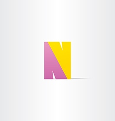 letter n logotype design vector image