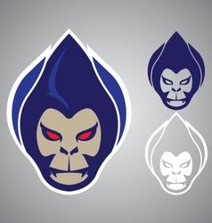 monkey head modern logo emblem vector image