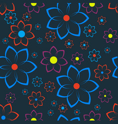 seamless texture with floral ornament vector image