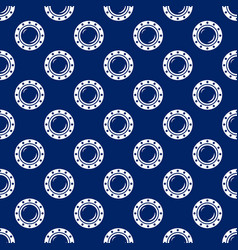 Seamless travel pattern with porthole vector
