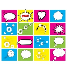 Set of brightly colored speech bubbles vector