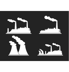 Set of industry manufactory building icons vector