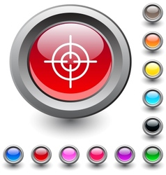 Sight round button vector image