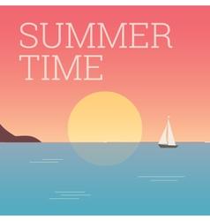 Summertime landscape sunset vector