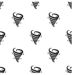 tornado icon in black style isolated on white vector image