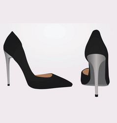 Women black shoe vector