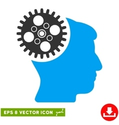 Head gearwheel eps icon vector