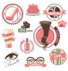 Beauty emblems vector