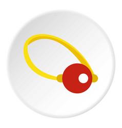 Clown nose icon circle vector