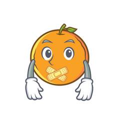 Silent orange fruit cartoon character vector