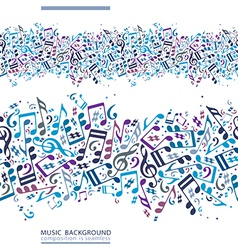 Colorful horizontal music canvas seamless tape vector