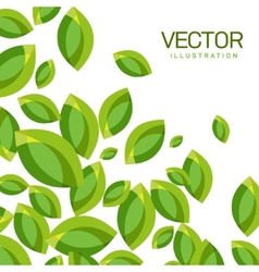 Abstract Background of Green Leaves vector image
